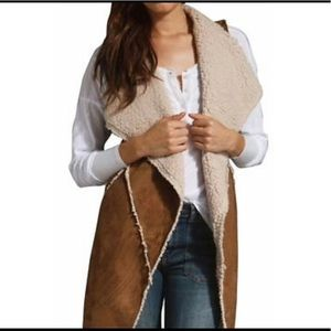 Sanctuary Clothing Women's Brown Faux Sherpa Vest